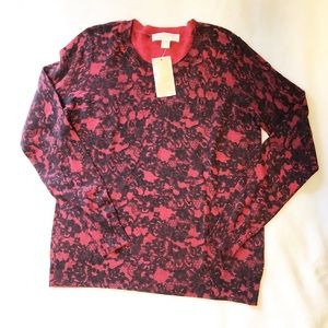 Michael Kors Red Currant top. size M